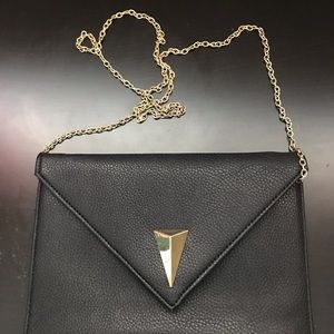 Charming Charlie Black with Gold Accent Crossbody